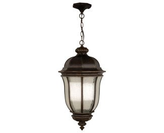 Craftmade Z3321-112 Hanging Lantern with Clear Seeded Glass Shades, Peruvian Bronze Finish by Craftmade (Image #1)