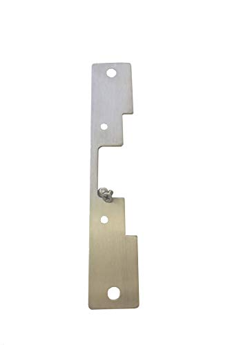 Stainless Steel 503 Faceplate for HES 5000 Series Electric Strikes for Cylindrical Locksets | Electrical Door Hardware | Satin Stainless Steel Finish | TUFF STRIKE ()