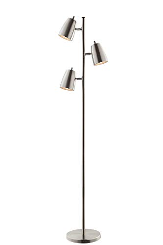 Lite Source Ronnie Brushed Nickel 3-Light Tree Floor Lamp