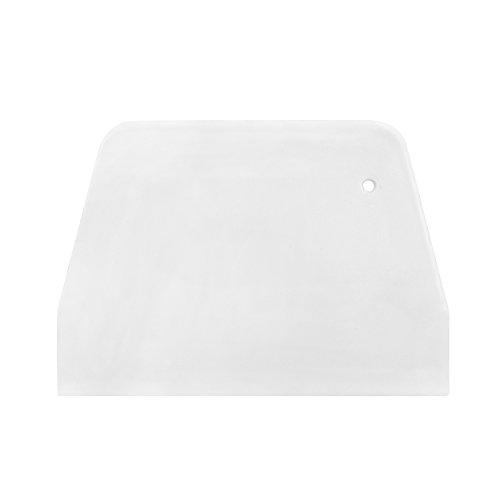 White Trapezoidal Plastic Scraper Pastry Dough Cutter Cutter Baking Kitchen Tool Merssavo