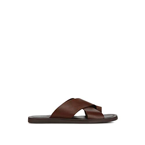 Kenneth Cole New York Ideal Criss Cross Leather Toe Sandal Brown