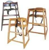 Winco CHH-101 Unassembled Wooden High Chair, Natural by Winco
