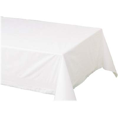 """Hoffmaster 210130 Cellutex Tablecover, Tissue/Poly Lined, 54 in x 108"""", White (Case of 25 Tablecloths) from Hoffmaster"""