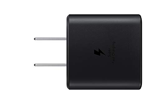 Samsung 45W USB-C Super Fast Charging Wall Charger - Black (US Version with Warranty), 45W TA w/ Cable, Black