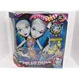 Monster High Peri and Pearl Serpentine Styling Head With 30 Accessories Glow In The Dark 6 years Old Up