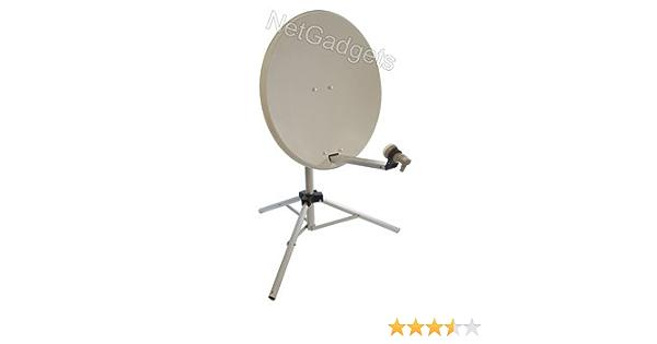 Satgear - Antena parabólica portátil con trípode (65 cm), color blanco [importado]