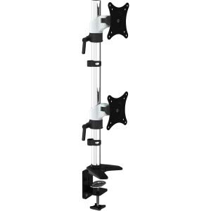 HYDRA Ergonomic Dual Monitor Mount (15-28 inch displays) (2 Monitor Vertical White) Amer Mounts HYDRA2V