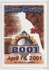 Aptil 16, 2001 (Baseball Card) 2001 Topps Opening Day - Slam Derby Sweepstakes Entries #4-16