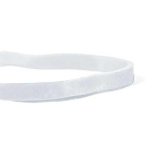 CWC #33 Rubber Bands - #33, 3-1/2'' x 1/8'', White, Crepe (Pack of 25 boxes)