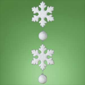 "UPC 009312502004, Huge 24"" Dangling Glittery Snowflake Christmas Ornament"