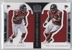 Justin Hardy; Tevin Coleman #5/99 (Football Card) 2015 Panini Crown Royale - Dual Silhouettes #DS-JHTC