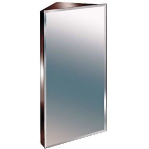 corner bathroom mirror zanex bevelled edge 600mm stainless steel mirror bathroom 12529