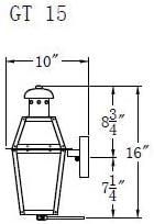 The CopperSmith Georgetown 15.5 Gas Lantern