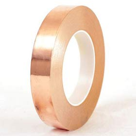 Euro Single Conductive Self Adhesive Copper Foil Shielding Tape | Size 1 In  x 25 Meters: Amazon.in: Industrial & Scientific