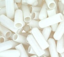 WIDGETCO 1/4'' x 1'' Screw Thread Protectors, White - works w/many Hurricane Shutters