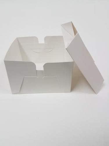 Cajas de cartón cuadradas para tartas con tapa extraíble (8 pulgadas) – diferentes cantidades, 8