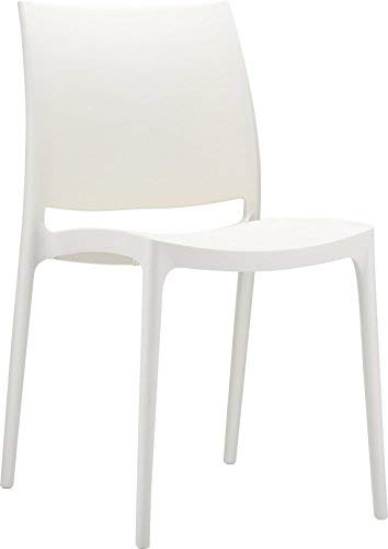 Olympus Chair Chairs Plastic luxury Office/Home / Garden/Party / Reception/Living Room (White) Home In Style