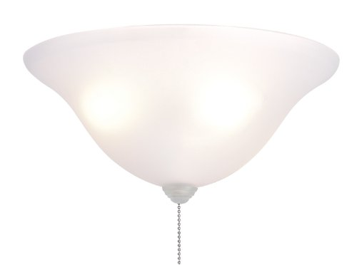 Fanimation LK250 Bowl Light Kit, 13-Inch, White Frosted