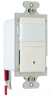 Pass & Seymour RWU600ULACCV4 Wall Occupancy Sensor Two Wire 600-watt Easy Install Light, Almond
