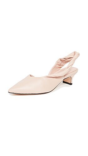 Point Slingback - Sigerson Morrison Women's Melina Point Toe Slingbacks, Blush, 8 M US