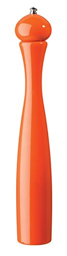 (Fletchers' Mill Marsala Collection Pepper Mill, Orange - 17 Inch, Adjustable Coarseness Fine to Coarse, MADE IN)