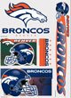 Wincraft 3208503771 11 x 17 in. Denver Broncos Ultra Decal Sheet