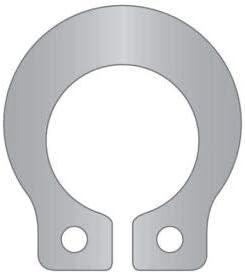 Pkg of 18 1//2 Grooveless External Snap Ring Standard Duty SHF-050-SS 15-7//17-7 Stainless Steel Stamped