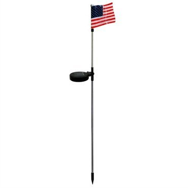 Alpine SLC192-DSP USA Flag Stake with White LED Lights & Wall Plug by Alpine