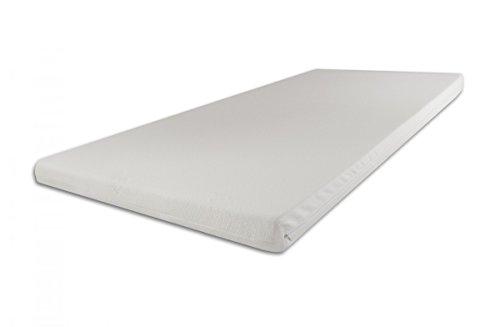 SW Bedding H2 Topper Matratzenauflage Kaltschaum 140 x 200 x 5 cm Bezug Ideal