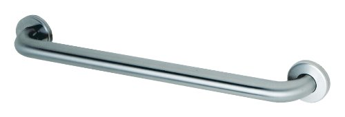 Bobrick 5806x42 304 Stainless Steel Straight Grab Bar with Concealed Mounting and Snap Flange, Satin Finish, 1-1/4