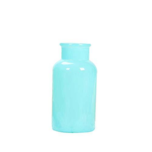 TELLW Black White Imitation Ceramic Color Imitation Jade Reagent vase Plant Dried Flower Arrangement vase European Wind Size Mouth