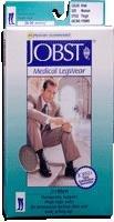 JOBST Thigh High, Men, 20-30 mmHg, Closed Toe, Large, Black, 1/Pair, JOB115410