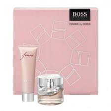 hugo boss femme gift set 30ml edp 50ml body lotion health personal care. Black Bedroom Furniture Sets. Home Design Ideas