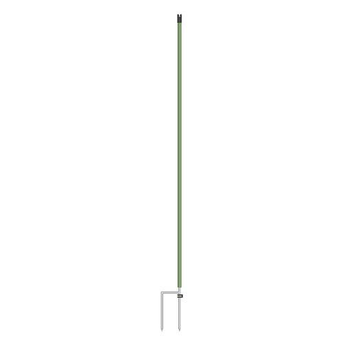 Lot de 10 Piquets supplémentaires pour filet de clôture électrique, 112 cm, vert, double pointe poteaux de remplacement
