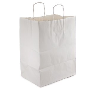 12 Inch White Handle (Duro ID# 87904 Regal Bag 65# White 200pk 12 x 9 x 15-3/4)