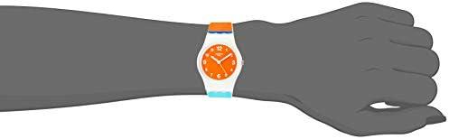 Orologio Swatch Original Lady LW158 Al quarzo (batteria) Plastica Quandrante Arancione Cinturino Silicone