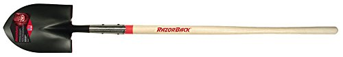 6 Pack Razor-Back 45520 Round Point Digging Shovel with Open-back and Forward Turned Step - 48'' Long Handle (R248S) by RAZORBACK