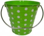 ITALIA 10013 4.3 x 4.3 In. Green D Metal Bucket - 6 Pack