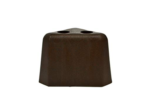 (Brown Plastic Triangle Shaped 2.25 Inch Leg for Sofas and Recliners, Set of 4)