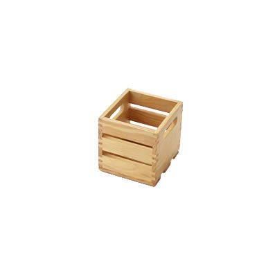American Metalcraft WTN6 Wooden Crate, Natural, 6''