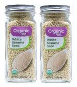 Great Value Organic White Sesame Seeds, 2.2 oz, 2 Count (Pack of 1) by Great Value