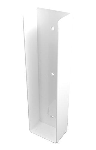 Durable White PVC Vinyl U-Mount Rail Bracket For A True 2 Inch X 8 Inch Rail | Single Pack | AWBR-UMOUNT-2X8