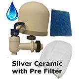 (DIY Gravity Water Filter Kit with Active Carbon Filter, Pre-filter Sock, Nozzle)