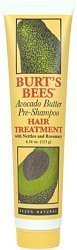 Burt's Bees Hair Care Avocado Butter Hair Treatment 4 oz. tube (Pack of 5)