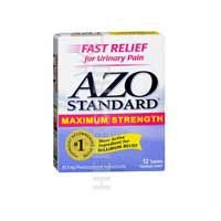 Azo Standard Ingredients - Azo Max Strength Size 12ct Azo Mximum Strenght 12ct
