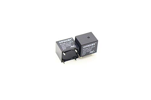 (x2) PC236-1C-12S-X-2 | SPDT 12 VDC Coil | 10 Amp | 120 VAC | 20/15 Amp 14 VAC UL Rated | Sealed Subminiature PCB Power Relay | Cross: Song Chuan 895-1C-C-12VDC, Omron G8QN-1C4-DC12 by PICKER