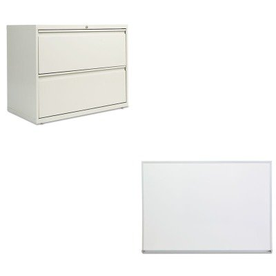 KITALELF3629LGUNV43624 - Value Kit - Best Two-Drawer Lateral File Cabinet (ALELF3629LG) and Universal Dry Erase Board (UNV43624) by Best