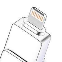 32GB USB Memory Stick for Mobile Phone - [3-in-1] Multi-Connector External Flash Drive for Smartphone PC Laptop (32GB)