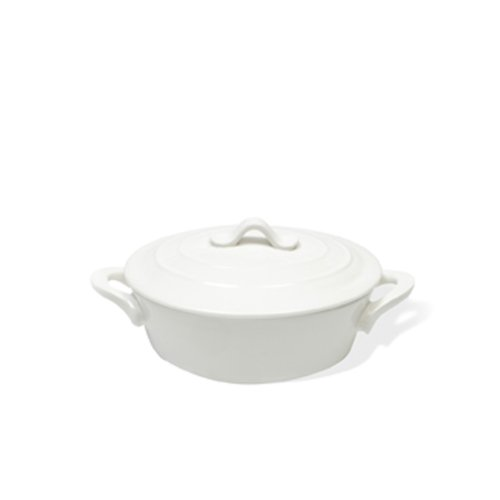 Maxwell and Williams 12-Ounce Basics Oven Chef Oval Casserole, Mini, White