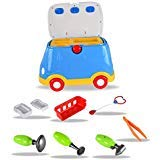 WolVol Ride-on Doctor Play Set - Premium Medical Kit Toy Set & Mini Ambulance Ride - Role Playing for Boys & Girls